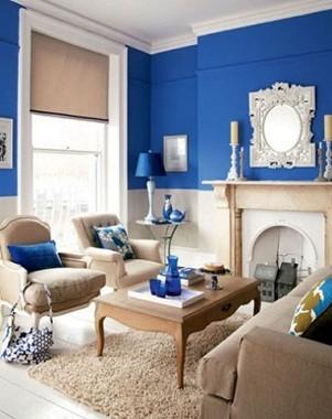 Sala d\'estar blava